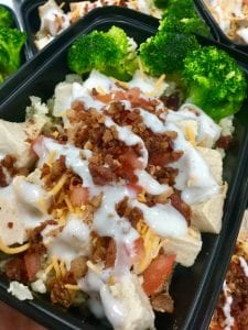 FitEx Meals Ketogenic Chicken Bacon Club Bowl meal prep